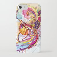 phoenix iPhone & iPod Cases featuring Phoenix by Nick La
