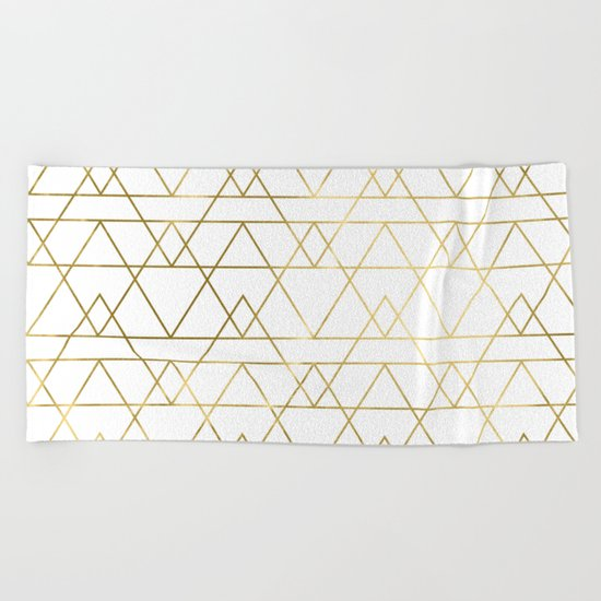 Modern Gold Beach Towel