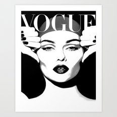 VOGUE PRINT Fashion Poster Digital Download Printable Art Retro Poster Modern Wall  Art Vintage Art Print