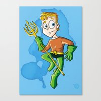 aquaman Canvas Prints featuring Aquaman! by neicosta