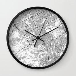 Riyadh Map Line Wall Clock