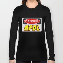 Danger AFOL Adult Fan of LEGO by Chillee Wilson Long Sleeve T-shirt