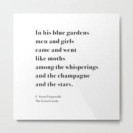 In his blue gardens Metal Print