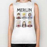 merlin Biker Tanks featuring MERLIN by Space Bat designs