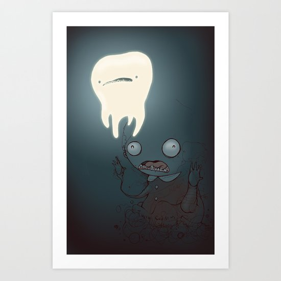 A powerful tooth Art Print