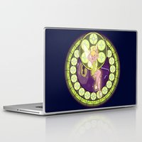 tinker bell Laptop & iPad Skins featuring Tinker Bell by NicoleGrahamART