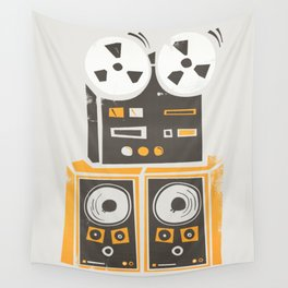 Reel to Reel Player Wall Tapestry
