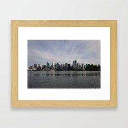 Vancouver BC Skyline Framed Art Print