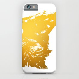 Wolf - Head - Sideview - Yellow iPhone Case
