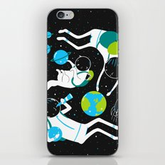 A Day Out In Space - Black iPhone & iPod Skin