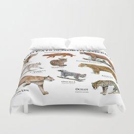 Wildcats of North America Duvet Cover