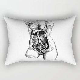 De Humani Corporis Fabrica - Torso Rectangular Pillow