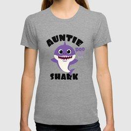 Auntie Shark design Gift - Cute Baby Shark Matching Family T-shirt