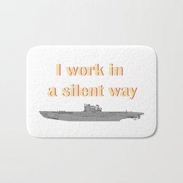 German Submarine Silent Introvert Bath Mat
