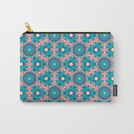 Aztec Geometric Blue Carry-All Pouch