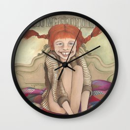 Pippilotta Viktualia Rullgardina Krusmynta Efraimsdotter Långstrump (Hija de Efraim Långstrump). Wall Clock