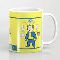fallout Mugs featuring PerceptionS.P.E.C.I.A.L. Fallout 4 by sgrunfo