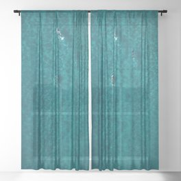 Trio Swimmers Turquoise Waters  Sheer Curtain