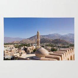The Grand mosque and minaret in Nizwa - Oman Rug