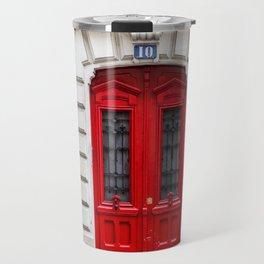 Red Door in Paris Travel Mug