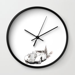 Rolls in Oxford Wall Clock
