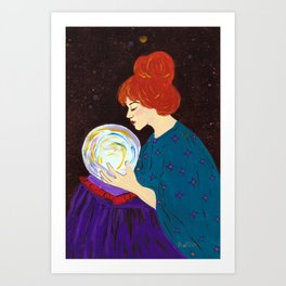 Divination by Mary Bottom Art Print