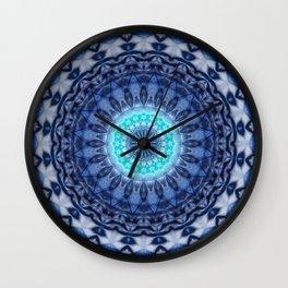 Mandala Iceblue 3 Wall Clock