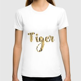 Tiger - quote with tiger texture T-shirt