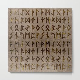 Ancient Celtic Runes  Alphabet pattern Metal Print