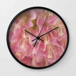 Tropical Hydrangea Wall Clock