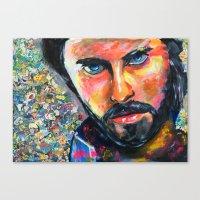 jared leto Canvas Prints featuring Jared Leto by Ilya Konyukhov