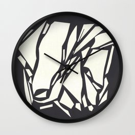Abstract black white Wall Clock