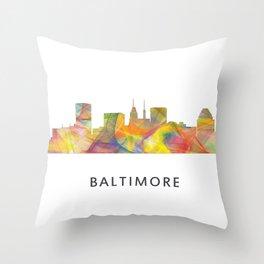 Baltimore Skyline WB1 Throw Pillow