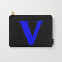 v (BLUE & BLACK LETTERS) Carry-All Pouch
