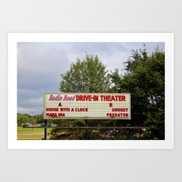 Drive-In Theater Sign Art Print