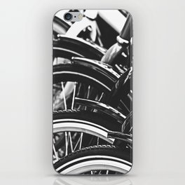 Bicycles, Bikes in Black and White Photography iPhone Skin