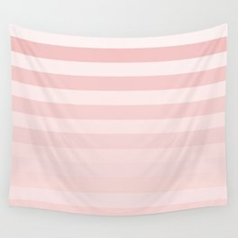 Pink Fade Stripes Wall Tapestry