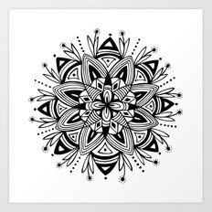 Mandala - Black Art Print