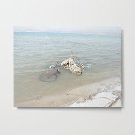 Salt Covered Bicycle Metal Print