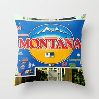 montana Throw Pillows featuring Montana by americansummers