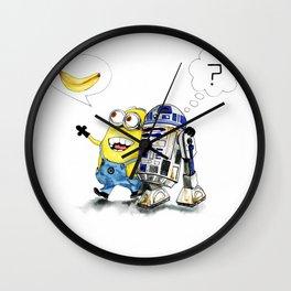R2D2 vs Minion Wall Clock