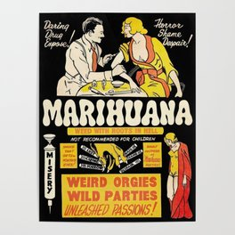 Marihuana Marijuana Vintage Movie Poster