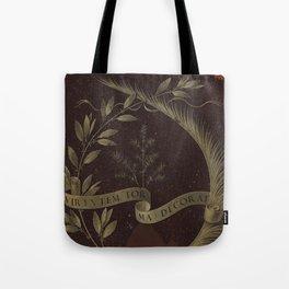 "Leonardo Da Vinci ""Wreath of Laurel, Palm, and Juniper with a Scroll inscribed Virtutem Forma Decor"" Tote Bag"