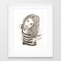 hayley williams Framed Art Prints featuring Hayley Williams by Dead Rabbit