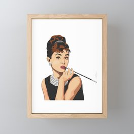 Audrey Hepburn Framed Mini Art Print