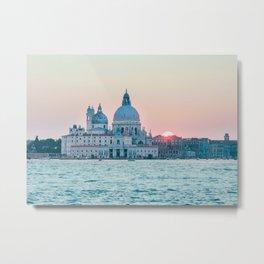 The Salute at Sunset in Venice Fine Art Print Metal Print
