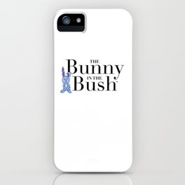 The Bunny in the Bush iPhone Case