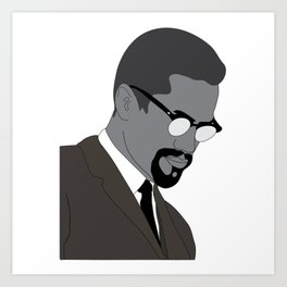 Malcolm X. By Any Means. Poster. Print. Case Art Print