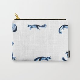 Running silver foxes Carry-All Pouch