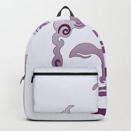 Buddha Head violet - grey Backpack